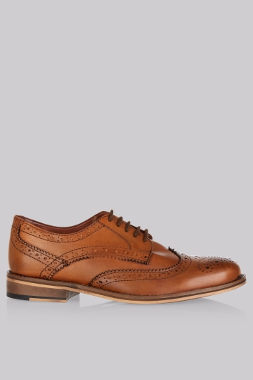 Moss London Dark Tan Brogues