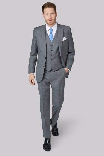 Savoy Taylors Guild Regular Fit Grey Sharkskin Jacket