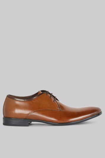 John White Cadogan Tan Derby Shoes