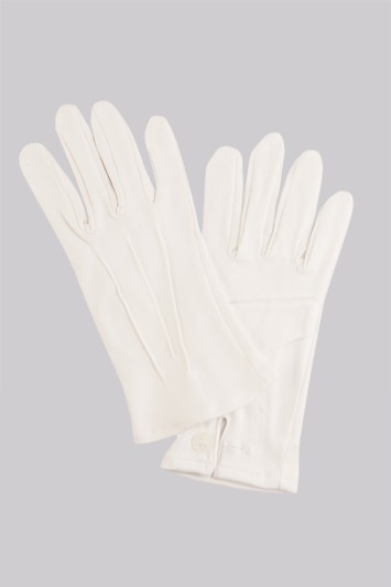 Moss 1851 White Cotton Dress Gloves