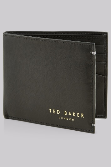 Ted Baker Black Bifold Leather Wallet