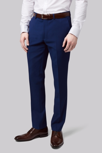 Moss London Skinny Fit Bright Blue Trousers