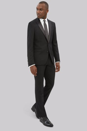 DKNY Slim Fit Black Tuxedo Jacket