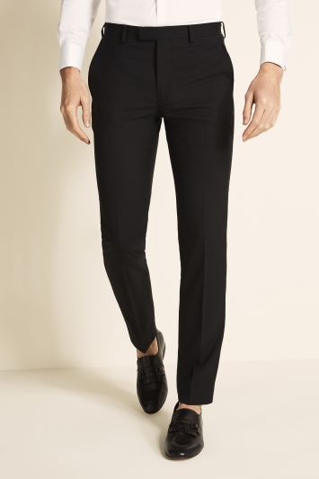 DKNY Slim Fit Black Dress Trousers
