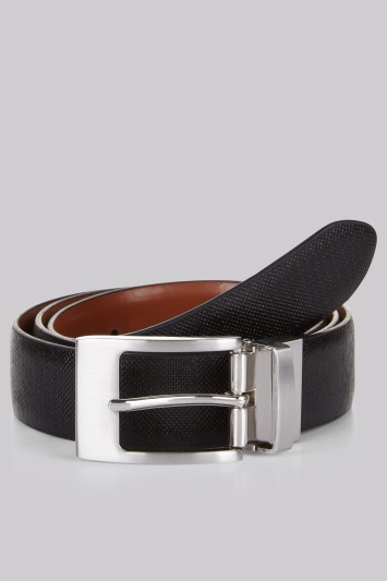 Moss London Black and Tan Reversible Belt