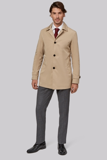 Moss 1851 Tailored fit Stone Raincoat