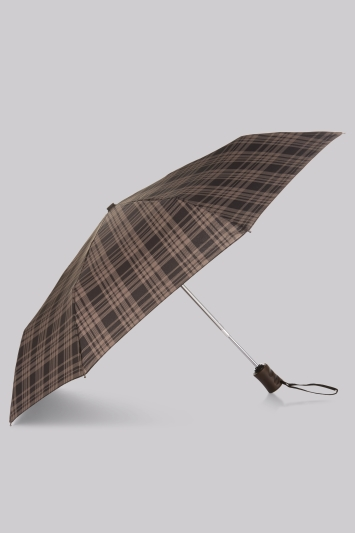 Fulton Grey Hoxton Window Pane Check Umbrella