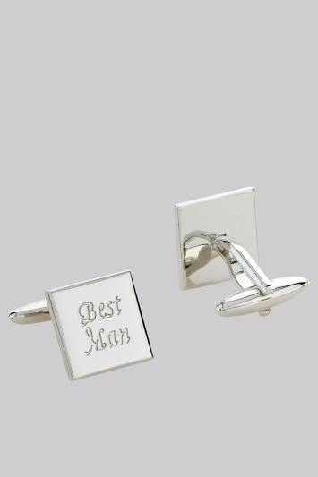 Moss 1851 Silver Best Man Cufflinks
