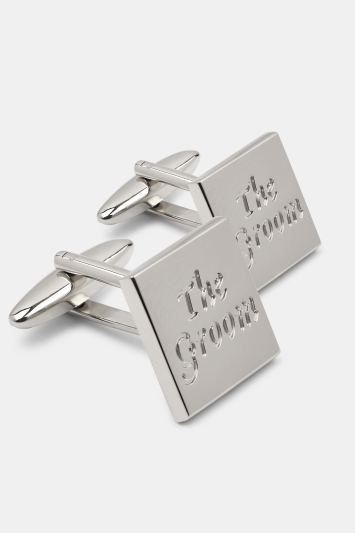 Moss 1851 Silver The Groom Cufflinks