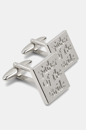 Moss 1851 Silver Father of the Bride Cufflinks