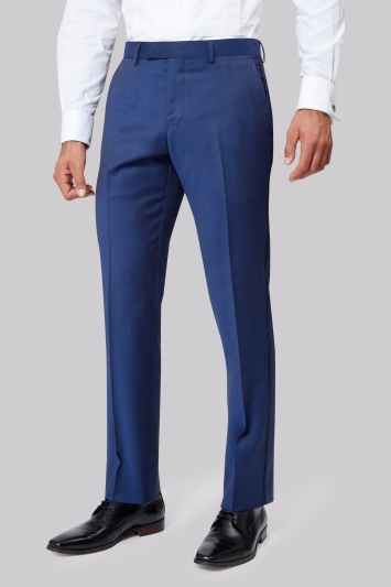 Moss 1851 Tailored Fit Bright Blue Dress Trousers