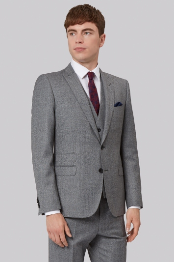 French Connection Slim Fit Light Grey Texture Jacket