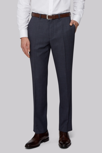 Savoy Taylors Guild Regular Fit Airforce Birdseye Trousers