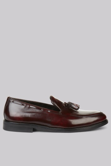 Moss London Darley Oxblood Loafers
