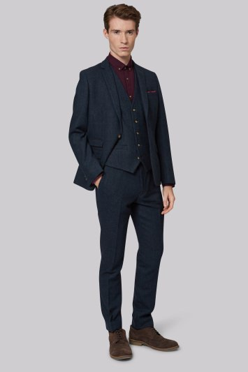 Moss London Blue Donegal Jacket