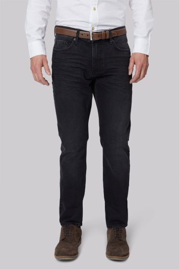 Moss 1851 Tailored Fit Black Denim Jeans