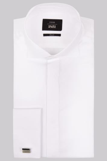 Moss 1851 Victorian Collar Slim Fit Dress Shirt