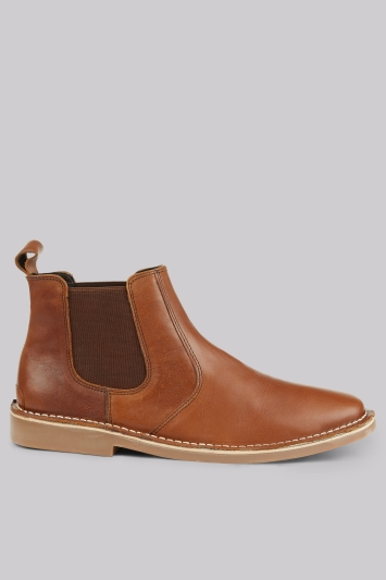Moss London Mills Tan Chelsea Boots