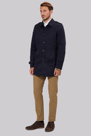Moss 1851 Tailored Fit Navy Cotton Jacket
