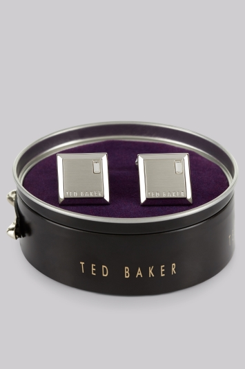 Ted Baker Silver Square Contrast Cufflinks