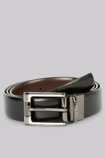 Ted Baker Black Reversible Leather Belt