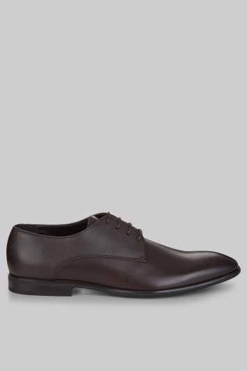 Moss London Grayes Brown Textured Shoes
