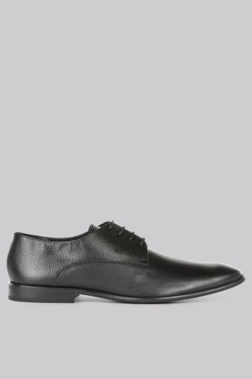 Moss London Grayes Black Textured Shoes