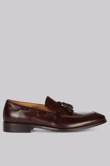 Hardy Amies Brown Tassel Loafers