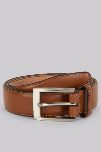 Moss 1851 Tan Real Leather Belt