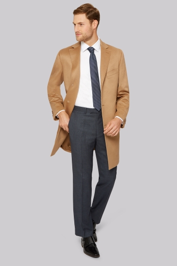 Prestige Regular Fit Camel Cashmere Coat