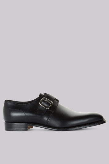 Cheaney Shoes Black Classic Monk Shoes