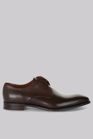 Cheaney Shoes Brown Plain Toe Derby Shoes