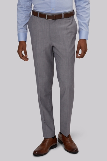 French Connection Slim Fit Silver Trousers