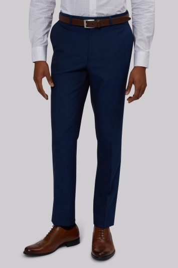 French Connection Slim Fit Blue Trousers