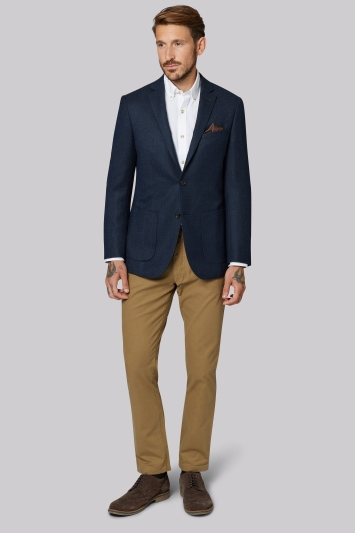 Moss 1851 Tailored Fit Navy Soft Plain Jacket