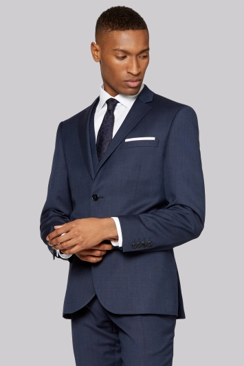 DKNY Slim Fit Indigo Texture Jacket