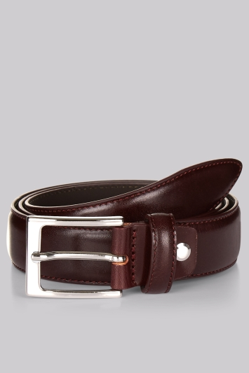 Hardy Amies Oxblood Real Leather Italian Belt