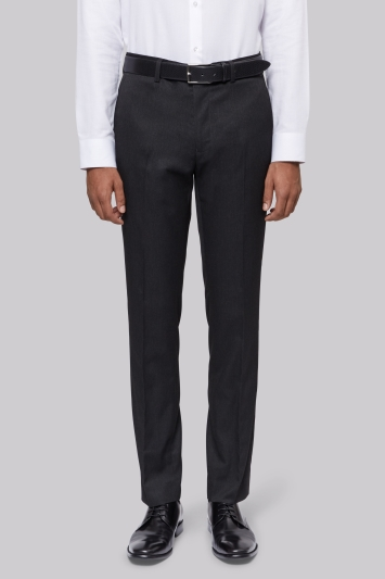 Moss London Slim Fit Machine Washable Charcoal Trousers