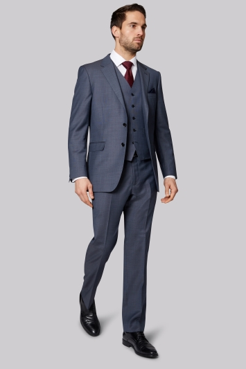 Ermenegildo Zegna Cloth Regular Fit Blue Semi Plain Jacket