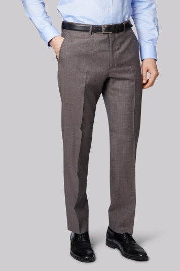 Ermenegildo Zegna Cloth Regular Fit Neutral Semi Plain Trousers