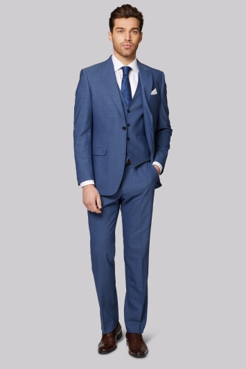 Moss 1851 Performance Tailored Fit Faded Blue Jacket