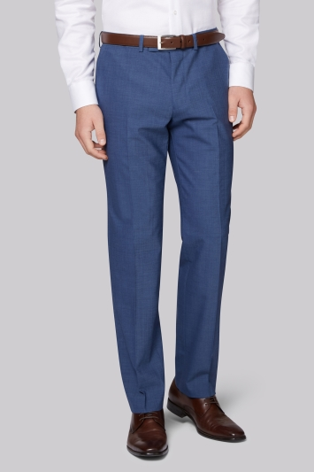 Moss 1851 Performance Tailored Fit Faded Blue Trousers