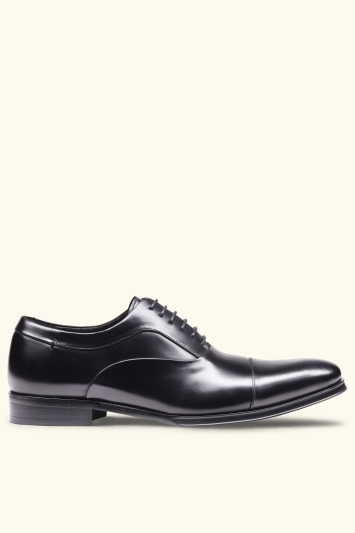 John White Guildhall Black Oxford Shoe