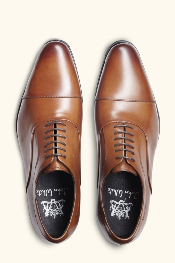 John White Guildhall Tan Oxford Shoes