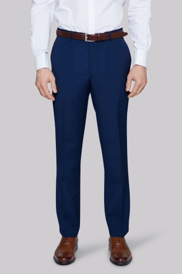 Moss Esq. Regular Fit Bright Blue Trouser
