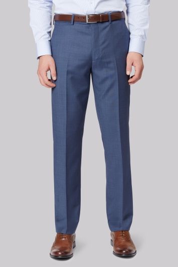 Ted Baker Gold Tailored Fit Blue Sharkskin Trouser