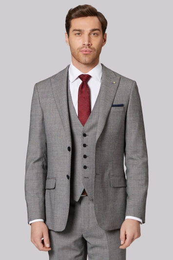 Ted Baker Gold Tailored Fit Neutral Birdseye Jacket
