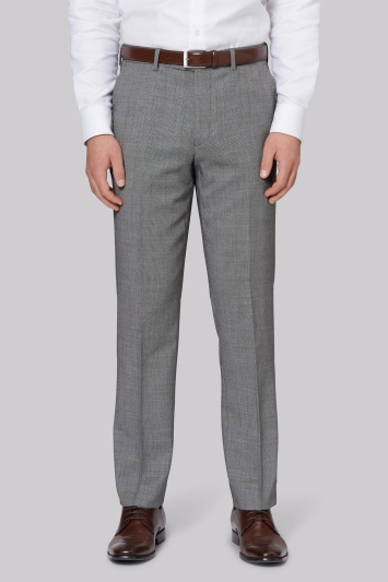 Ted Baker Gold Tailored Fit Neutral Birdseye Trouser