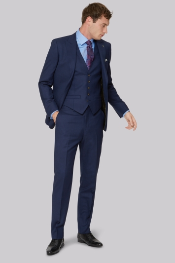 Ted Baker Gold Tailored Fit Navy Two Tone Jacket