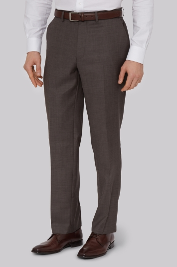 Savoy Taylors Guild Regular Fit Neutral Sharkskin Trouser
